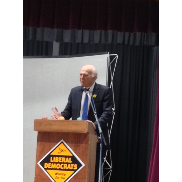 Vince Cable in Manchester (By Iain Donaldson)