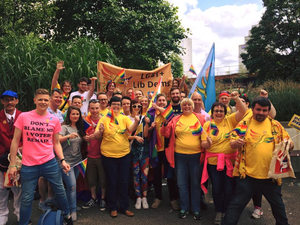 Liberal Democrats at Manchester Pride (By Iain Donaldson)