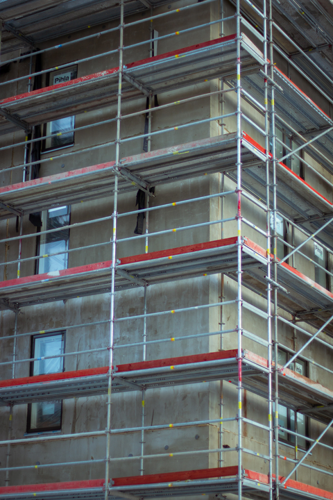 Picture of scaffolding around a building